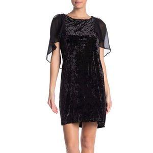 bobeau Dresses - NWT B BY BOBEAU Pery Flutter Sleeve Velvet Dress